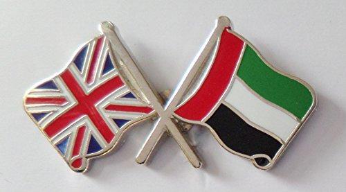 1000 Drapeaux des Émirats arabes unis et drapeau du Royaume-Uni