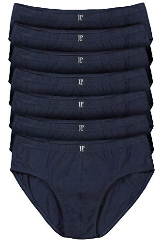 JP 1880 Herren große Größen bis 16 | Pants 7er Pack| Unterhosen, Schlüpfer, Slips, Hipster, Boxer-Shorts | Elastikbund | Navy 10 711244 70-10