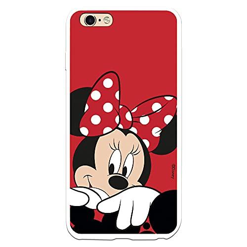 Custodia per iPhone 6 Plus - 6S Plus Ufficiale Disney Minnie Sfondo rosso per proteggere il tuo cellulare Cover per Apple con licenza ufficiale Disney.