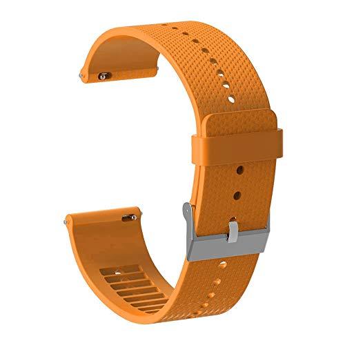 Kamenda 20Mm Correa de Reloj de Silicona Correa de Pulsera para Accesorios de Reloj Inteligente Polar Ignite Correa de Reloj Pulsera Naranja