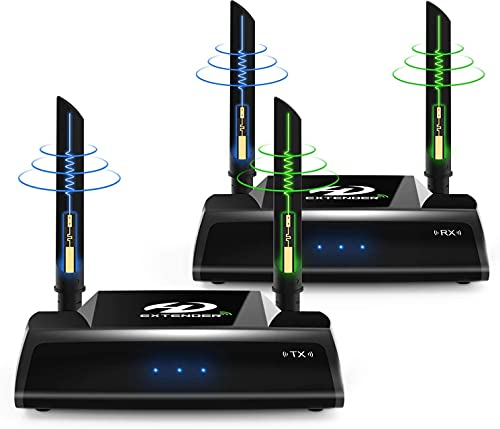 Wireless HDMI Extender, 5GHz HDMI Loop Output Transmitter and Receiver...