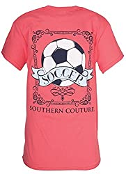 Southern Couture Womens Classic Vintage Soccer Short-Sleeve Tee Shirt