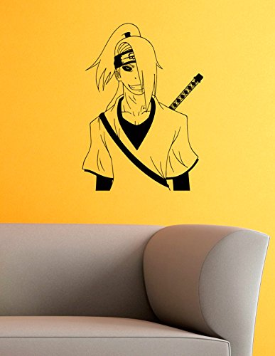 Deidara Vinyl Wall Decals Ninja Apostate Hidden Stone Naruto Shippuden Japan Manga Comics Decal Sticker Vinyl Murals Decors IL0636