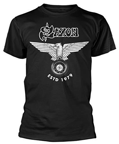 Saxon 'Estd 1979 (White Logo)' (Black) T-Shirt (XX-Large)
