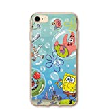 SCLWZD iPhone 7 / iPhone 8 Case- Stylish Spongebob Squarepants PC Slim Shockproof Flexible Back Protective Case for iPhone 7 / iPhone 8