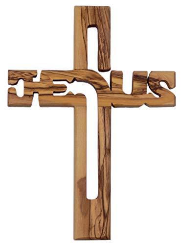Motivationsgeschenke Holzkreuz Jesus aus Olivenholz Jerusalem 19,5 cm Kruzifix