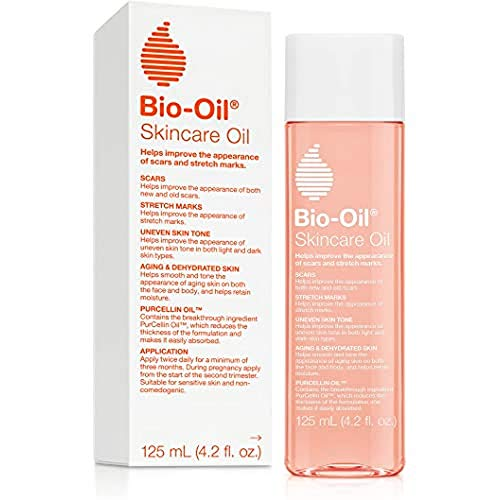 Bio-Oil Skincare Oil, Body Oil for Scars and Stretchmarks, Serum Hydrates Skin, Non-Greasy, Dermatologist Recommended, Non-Comedogenic, 4.2 Ounce, for All Skin Types, with Vitamin A, E
