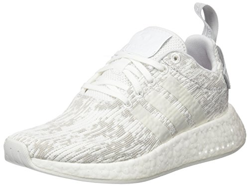 adidas Damen NMD_R2 Sneaker, Weiß (Footwear White/Footwear White/Grey Two), 39 1/3 EU