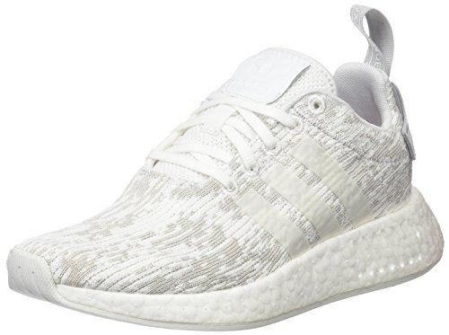 adidas Damen NMD_R2 Sneaker, Weiß (Footwear White/Footwear White/Grey Two), 37 1/3 EU