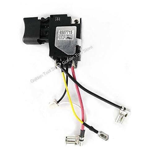 SDUIXCV Interruptor de gatillo 6507715 650771-5 para Makita DTD149 DTD 149 Impacto inalámbrico srcew Destornillador Taladro repuestos
