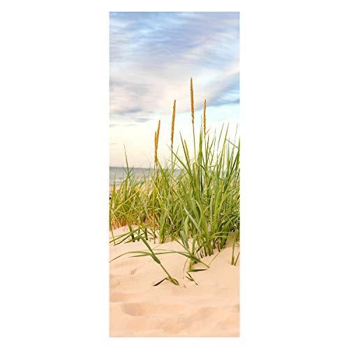 wandmotiv24 Türtapete Strand 80 x 200cm (B x H) - Papier Sticker für Türen, Tür-Bilder, Aufkleber, Deko Wohnung modern M0927