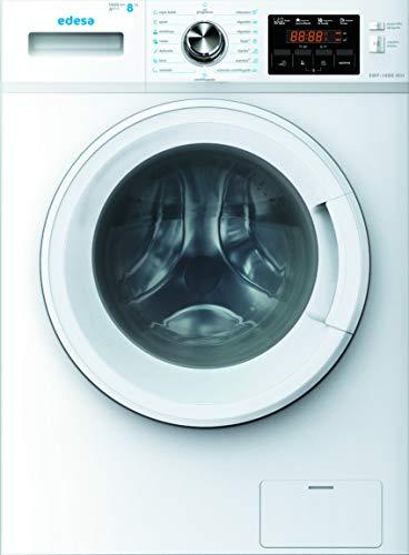 Edesa - Lavadora de carga frontal, Modelo: EWF-1480 WH, Capacidad: 1-8 Kg, 16 programas de lavado, Pantalla Led, Clasificación energética A+++, Color Blanco