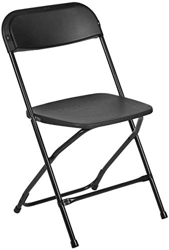 AJP Distributors 10 Pack 650 lb. Capacity Premium Plastic Folding Chairs Wedding Party Outdoor...