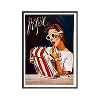 ファッション女性ポスターとプリントヴィンテージファッション雑誌カバーウォールアートクリエイティブキャンバス絵画現代写真家の装飾50x70cmx1フレームなし