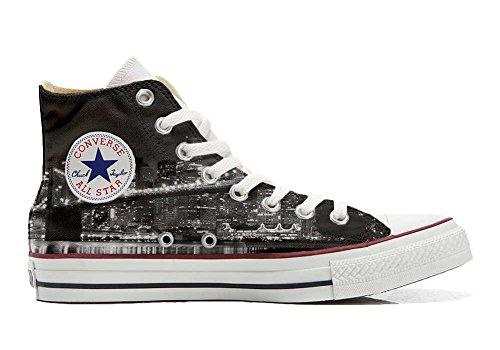 MYS Sneaker Original Hi Customized personalisiert Schuhe (gedruckte Schuhe) NY Night TG36