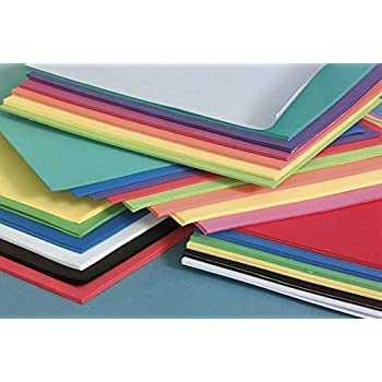 Darice Foam Sheets, 12 x 18 Inches, Assorted Primary Colors, Count