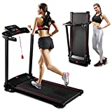 Portable Treadmill 3.5' LCD 12 Preset Programs Tracking Pulse Calories Folding Smart Electric Treadmill for Home Jogging/Walking with Space Saving Fitness Running Electric Cardio Training Treadmill