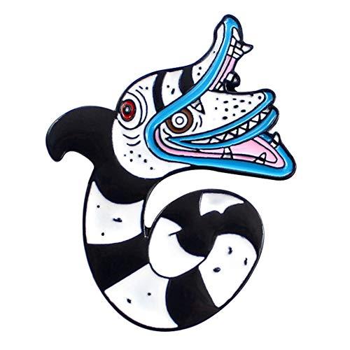 GMZQQ Delicate broche Sea Snake Broche Delicate Driehoek Geometrische Patroon Rattlesnake Emaille Lapel Pin Lederen Jas Badge Vriend Geschenken Stijlvolle en Elegante Wilde Broche is het waard om te kopen