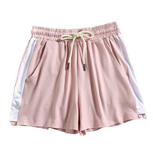 WGNNAA Damen Kurz Hose Sporthose Jogginghose Kurze Shorts Schlafanzughose für Yoga Sport Jogging Gym Running Beiläufige Elastische
