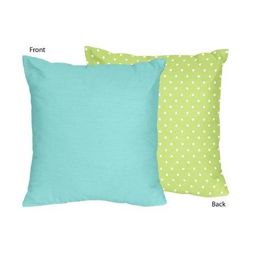 Sweet Jojo Designs Housse de coussin Motif hibou Turquoise et vert citron