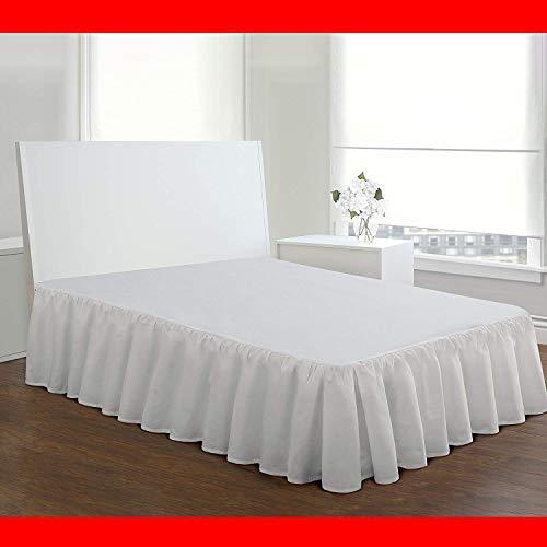 Tensism Falda De Cama con Volantes Envuelta,Hotel Quality Bedskirt,25cm(10in) Volante De Polvo De Caída con Plataforma,Anti Wrinkle & Fade Resistente