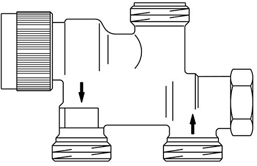 Oventrop OV Sistema analógico de válvula monotubo TKM DN 15, G 3/4 AG