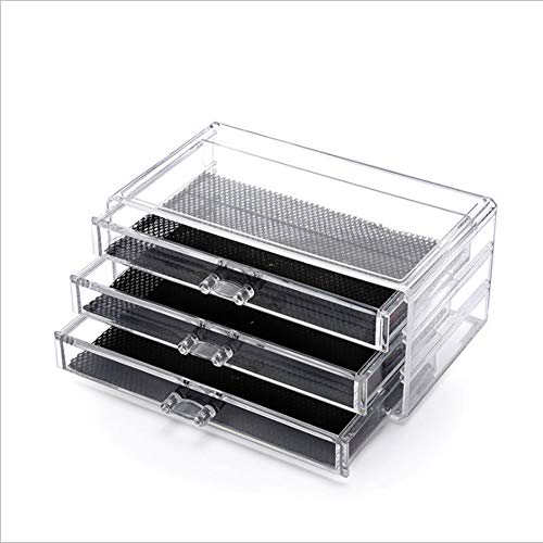 Gymy Caja de almacenamiento de joyas con cajones de tres capas