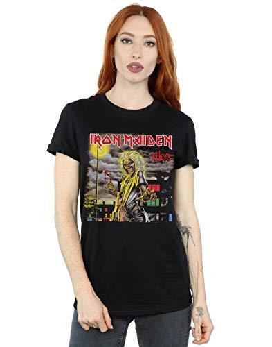Absolute Cult Iron Maiden Mujer Killers Cover Camiseta del Novio Fit Negro Medium