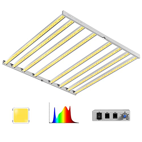 MARS HYDRO FC6500 LED Grow Light 5x5ft with 2688pcs Samsung LM301B Osram Diodes Upgraded Full Spectrum Commercial Growing Light for Plants Dimmable Daisy Chain 2.8 umol/J