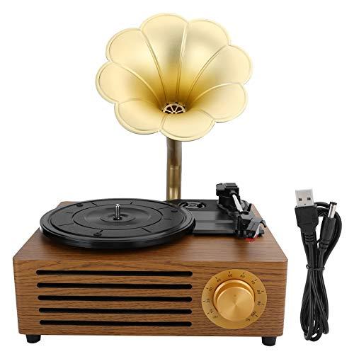FOLOSAFENAR Equipo de grabación Reproductor de Discos de Vinilo con Plato Giratorio de 33/45/78 RPM para decoración de Habitaciones