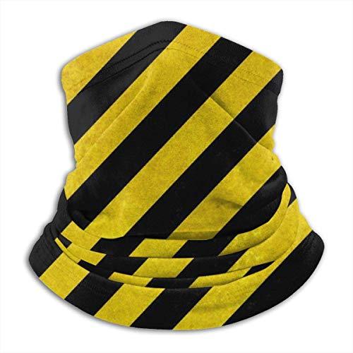 LREFON Pañuelo de Cuello con Textura de Rayas Amarillas y Negras, pasamontañas para Hombres, Mujeres, protección contra el Polvo del Viento y el Sol