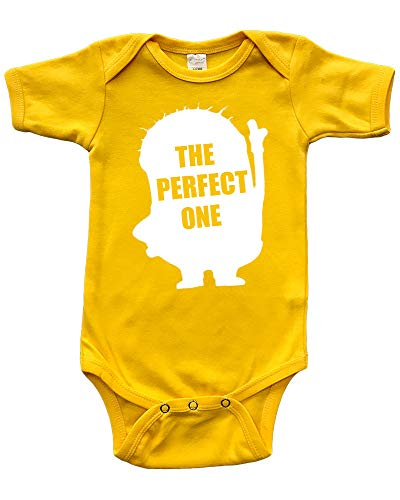 Short Sleeve Baby Bodysuit, Infant Gift, The Perfect One, Yellow, 12-18m