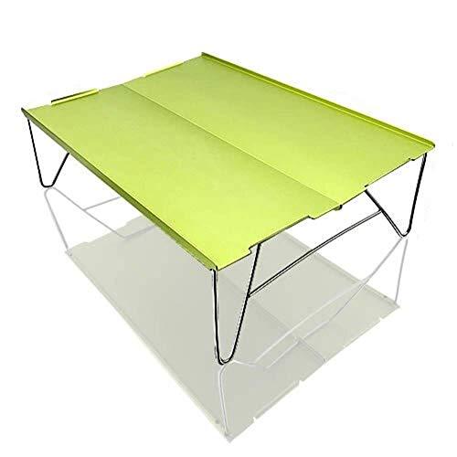 1yess Tragbare Folding Picknick-Tisch Licht Ultralight Camping Klapptisch im Freien Mini Folding tragbaren Tisch Picknick-Tisch-Legierung Hubtabelle for Camping-Strand-Zubehör-gelb 8bayfa