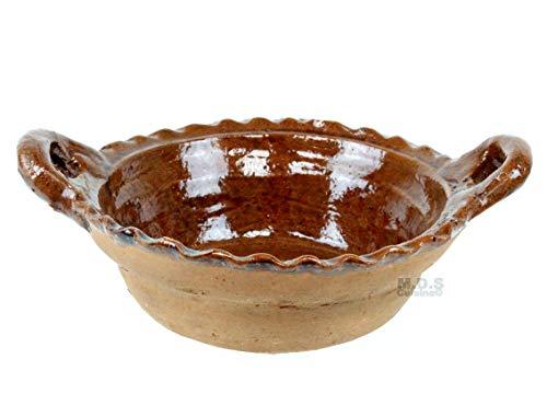 """Cazuela De Barro 7.5"""" Brown Glaze Interior Finish 100% Lead Free Mexican Red Clay Traditional Decorative Artisan Casserole Olla"""