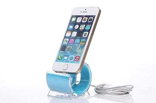 PRECORN Ladestation Ladegerät Dockingstation für Apple iPhone 5c 5s 6 6s Plus Ipod Docking Station in blau