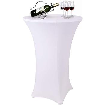 Anthracite Mange Debout Deco Cocktail Beautissu Lot de 2 Housses de Table Haute de bistrot Stretch Spandex Stella /Ø 70-75 cm