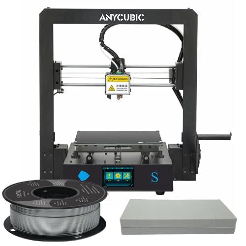 Mega S 3d Printer & Filament Bundle: ANYCUBIC Mega S Beginner Friendly All Metal Frame 3d printer + 1KG Roll of Eryone PLA (Choice Of Colour) + CNC Universe 0.4mm V6 Nozzle & Maintenance Kit