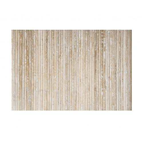 STOR PLANET Alfombra Bamboo Cool Yeso 120 x 180 cm, 100% Bambú, Marrón Claro