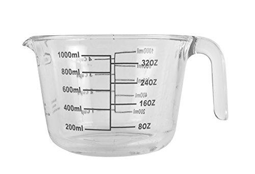 Farberware - Vaso de vidrio de borosilicato (4 tazas), color transparente