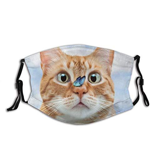 Adorkable - Máscara de cara de gato, protectora-lavable, reutilizable, bufandas, para unisex StunnedtheCat-1 unidad