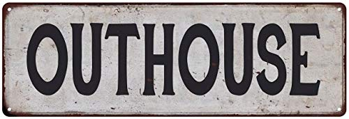 Outhouse Vintage Metal Sign