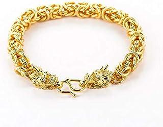 Men's Gold Chain Bracelet Gold Plated Unique Dragon Gold Bracelet