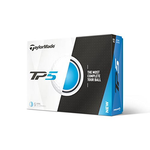 TaylorMade TP5 2018 - Golf Balles - Blanc, One Size
