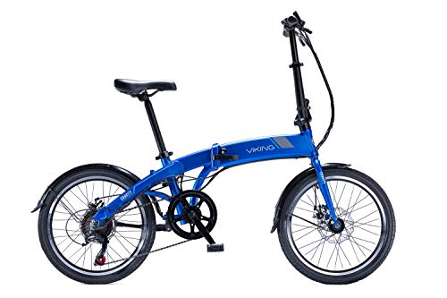 Viking Gravity eBike 20' Folding 24V 250W Electric Bike Blue