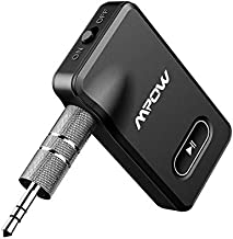Mpow BH129 Bluetooth Receiver for Car, Aux Bluetooth Car Adapter 5.0 for Wired Speakers/Headphones/Home Music Streaming Stereo,15-Hour Battery Life,Easy Control On/Off Slider