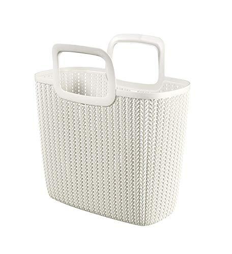 SHD CURVER Strickoptik Shopping Bag, Plastik, Harvest Beige, 42 x 23.4 x 29 cm