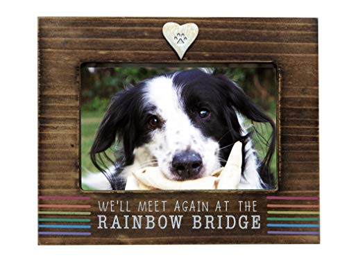 We'll Meet Again at The Rainbow Bridge Dog or Cat Memorial Photo Frame for 4 x 6 Inch Photo