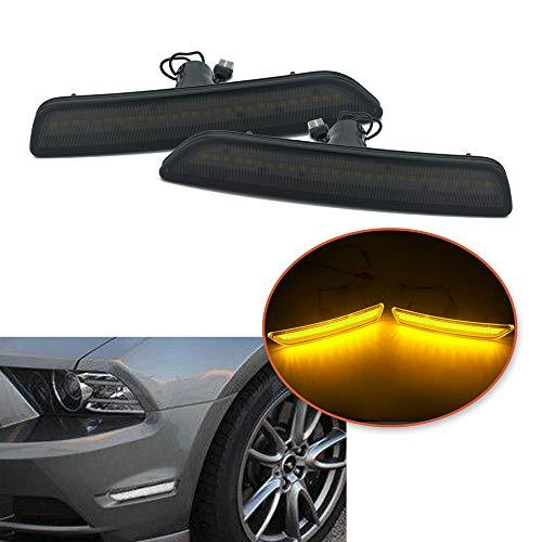 Heinmo Option/Feu de position latéral avant avec lentilles ambre pour Mustang 2010-14
