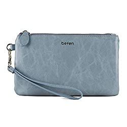 Befen leather wristlet clutch the best  leather economical purses under 20 dollars