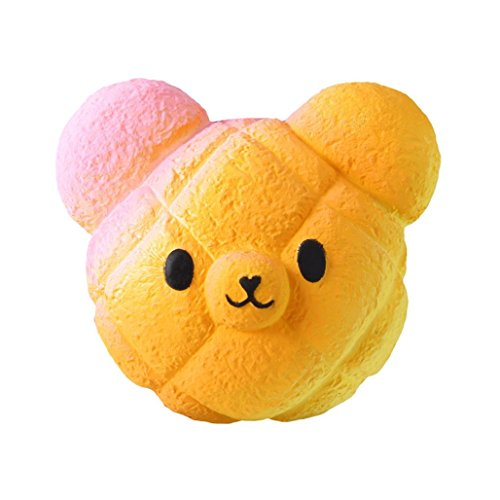 Highpot Jumbo Squishies Galaxy Bear Kawaii Squishy Slow Rising Cream Scented Stress Relief Toy for Kids/Adults (Orange)